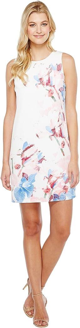 Sleeveless Poetic Bouquet Shift Dress