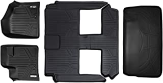 SMARTLINER Floor Mats 3 Rows and Cargo Liner Behind 3rd Row Set Black for 2008-2018 Caravan/Town & Country (Stow'n Go Only)