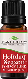 Plant Therapy Holiday Season Synergy Essential Oil 10 mL (1/3 oz) 100% Pure, Undiluted, Therapeutic Grade