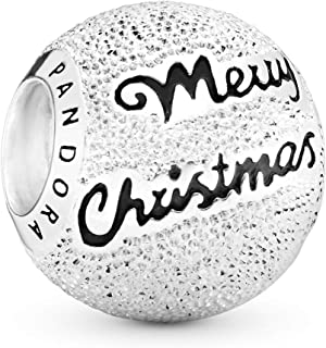 Pandora Jewelry - Merry Christmas Charm in Sterling Silver with Black Enamel