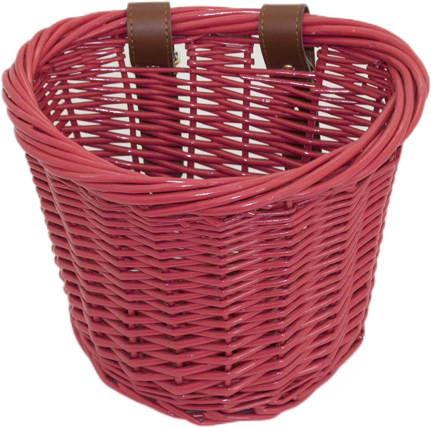 YRJJ Wicker Bike Save money Free shipping / New Basket Children's Straps Leather Front Han