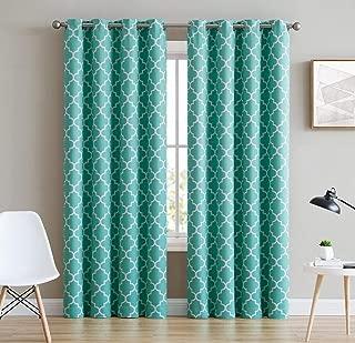 Best green lattice curtains Reviews