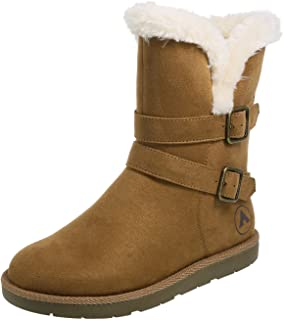 Airwalk Womens 079075-Parent Faux Suede with Adjustable Ankle Straps