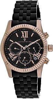 Christian Van Sant Women's Blisse Quartz Stainless Steel Strap, Black, 20 Casual Watch (Model: CV0623)