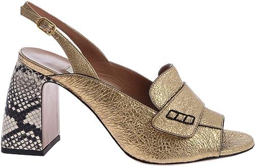 L& 039;Autre Chose Damen LDG10570CP2746G Gold Leder Absatzschuhe