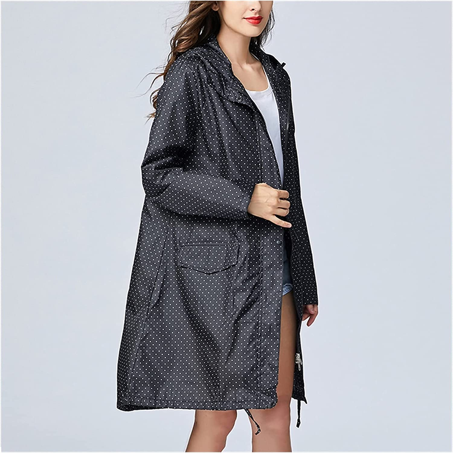 LSDJGDDE Long Trench Selling New popularity and selling Coat Adult Waterproof Men Breatha Women