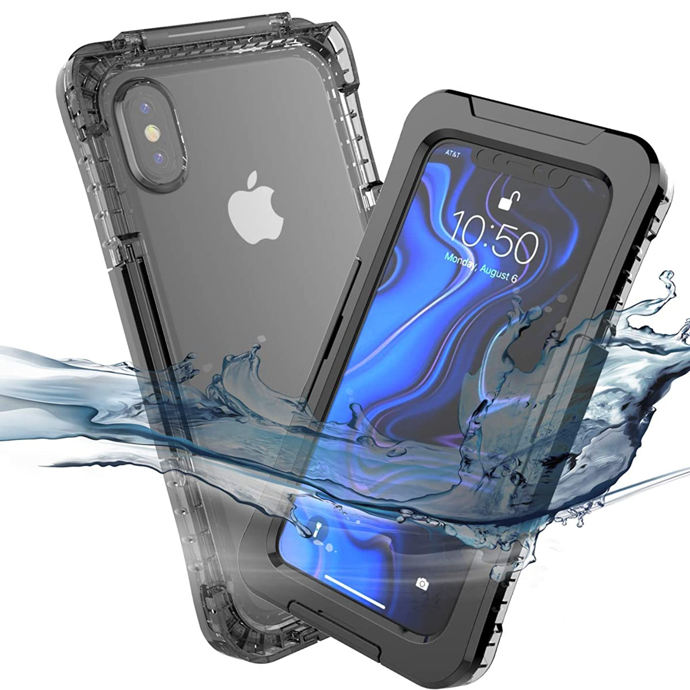 Torubia iPhone Xs Max Waterproof Case, New [ Heavy Duty ] Premium Tactical Grip Dustproof Shockproof Hard Bumper [Military Defender] Full Body Series Rugged Cover for iPhone Xs Max