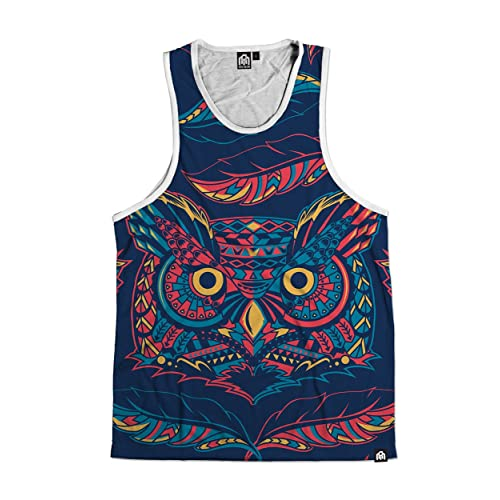 0d5eb81682a98 INTO THE AM Men s Vibrant All Over Print Sleeveless Tank Top Shirts