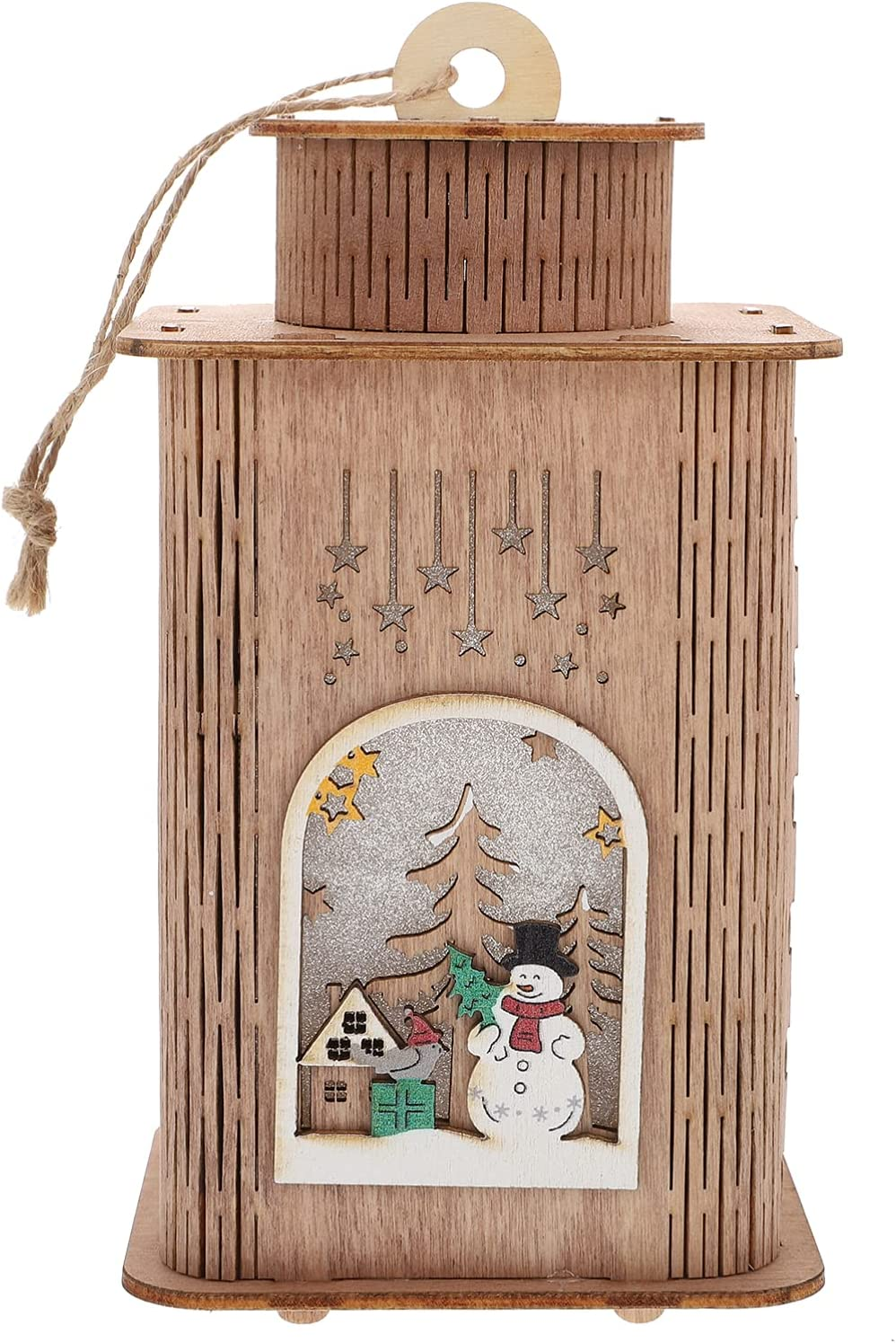 Chicago Mall NOLITOY 1Pc Wooden Christmas Night House- Warm Creat Max 86% OFF Light Shape