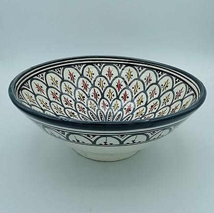 Multicolored Tea Glasses 8.5 cm High /«/Artisanat marocain//» Verres de th/é Multicolore 8,5 cm de Hauteur