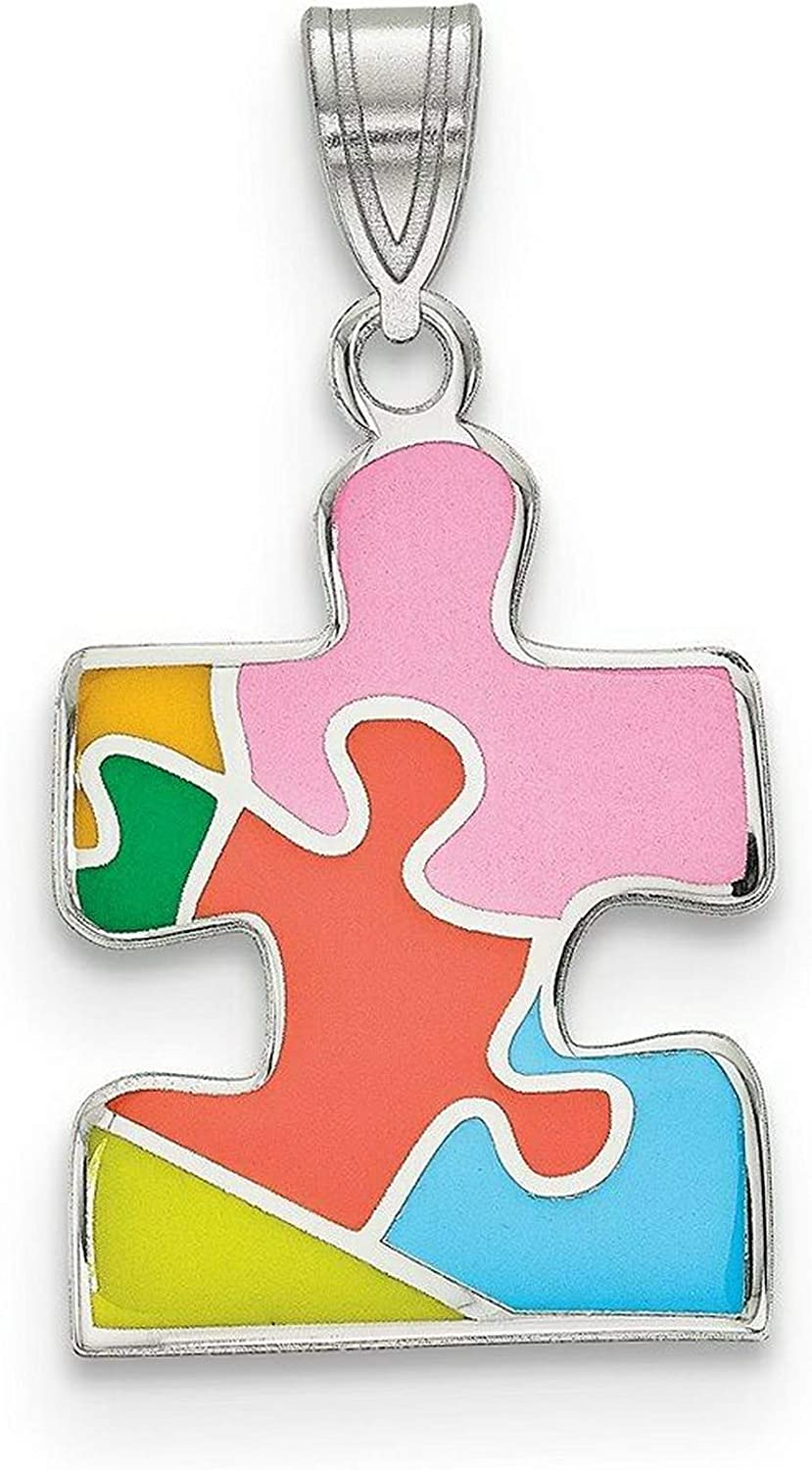 Package of Silver Sterling Multicolor Puzzle Max 43% OFF Enameled Max 65% OFF Autism Pie