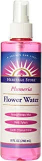 Heritage Store Moisturizing Mist, Plumeria Flower Water with Atomizer, 8 Ounce