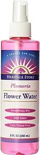 Heritage Store Moisturizing Mist, Plumeria Flower Water with Atomizer, 8 Ounce