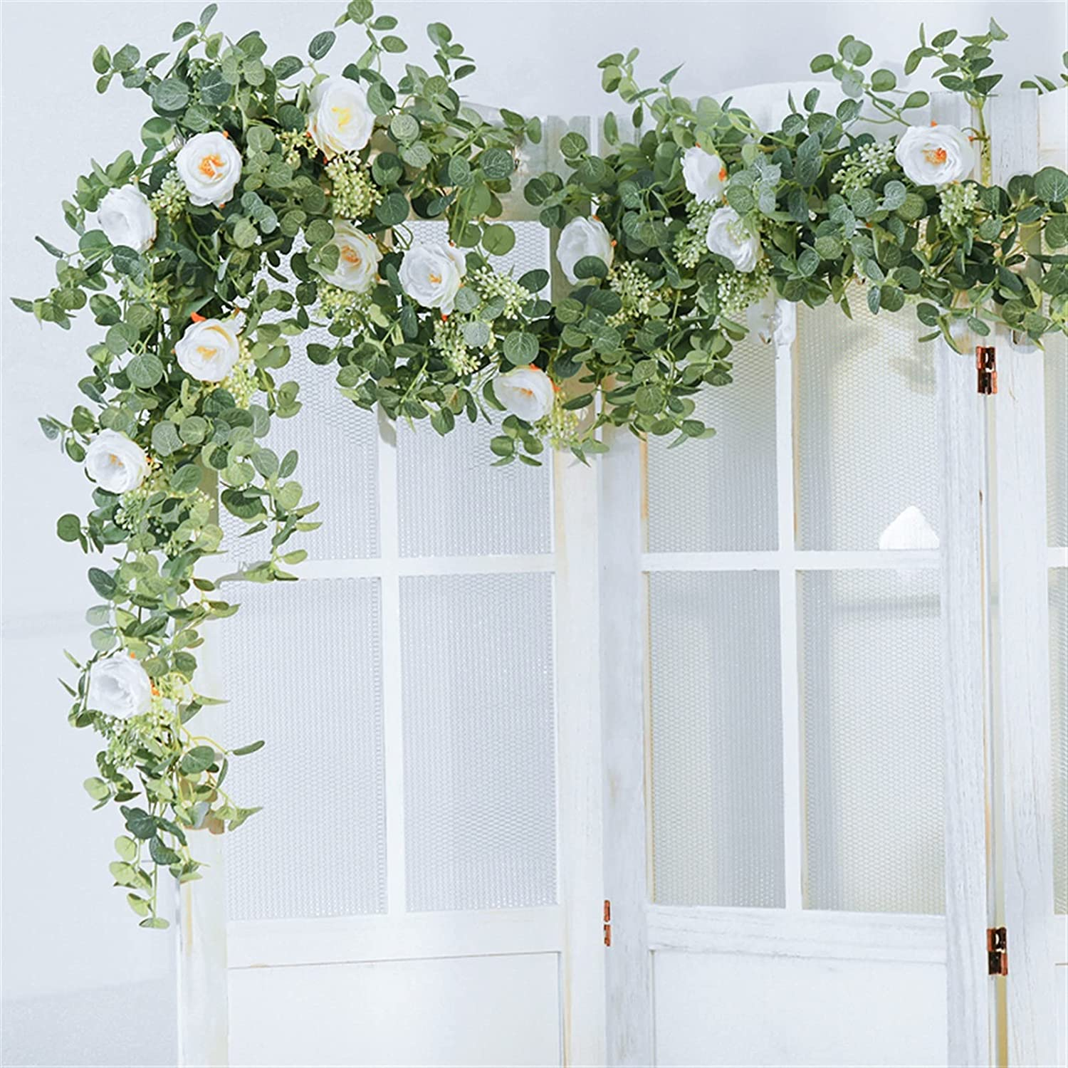 Artificial flowers flower wreath Max 83% sold out OFF 2m fake eucalyptus