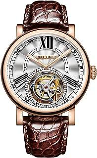 REEF TIGER - Reloj Analógico Mechanical Hand-Wind para Mujer con Correa en Cuero-Alligator RGA1999