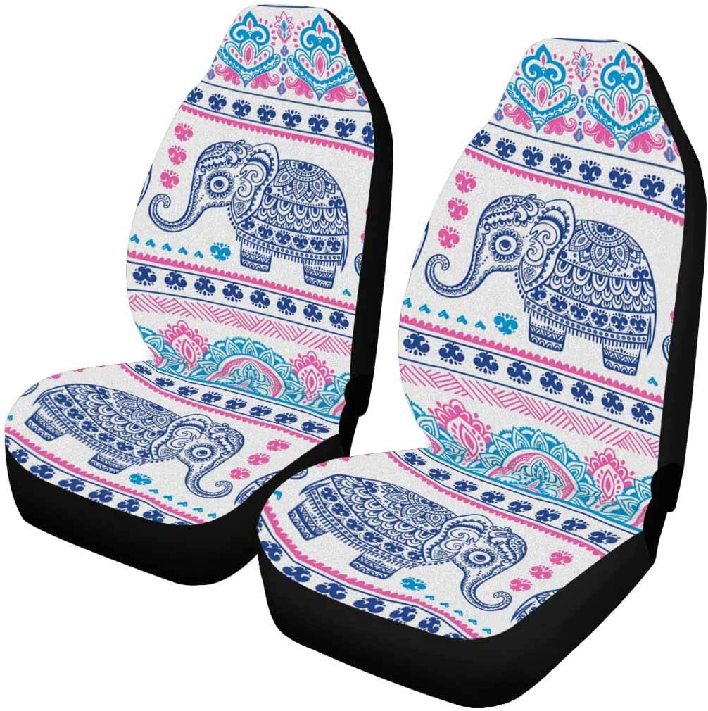 InterestPrint Indian Aztec Max 66% OFF Elephant Tribal Blue Seat Hippie Car New Shipping Free Shipping