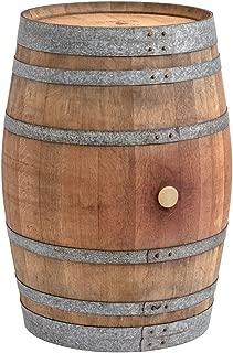 Barril mesa en madera de roble con 225 litros, natural (con fijación de anillos)
