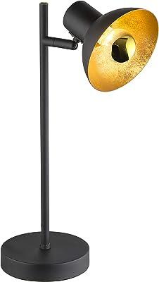 Spot de table à LED spot de lecture lampe réglable luminaire or noir Globo 54001-1T