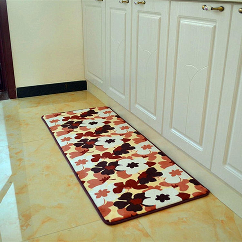 Doormats Living Room Balcony Floor mats Bedroom The Kitchen Porch Water-Absorbing mats Strip pad-H 70x140cm(28x55inch)