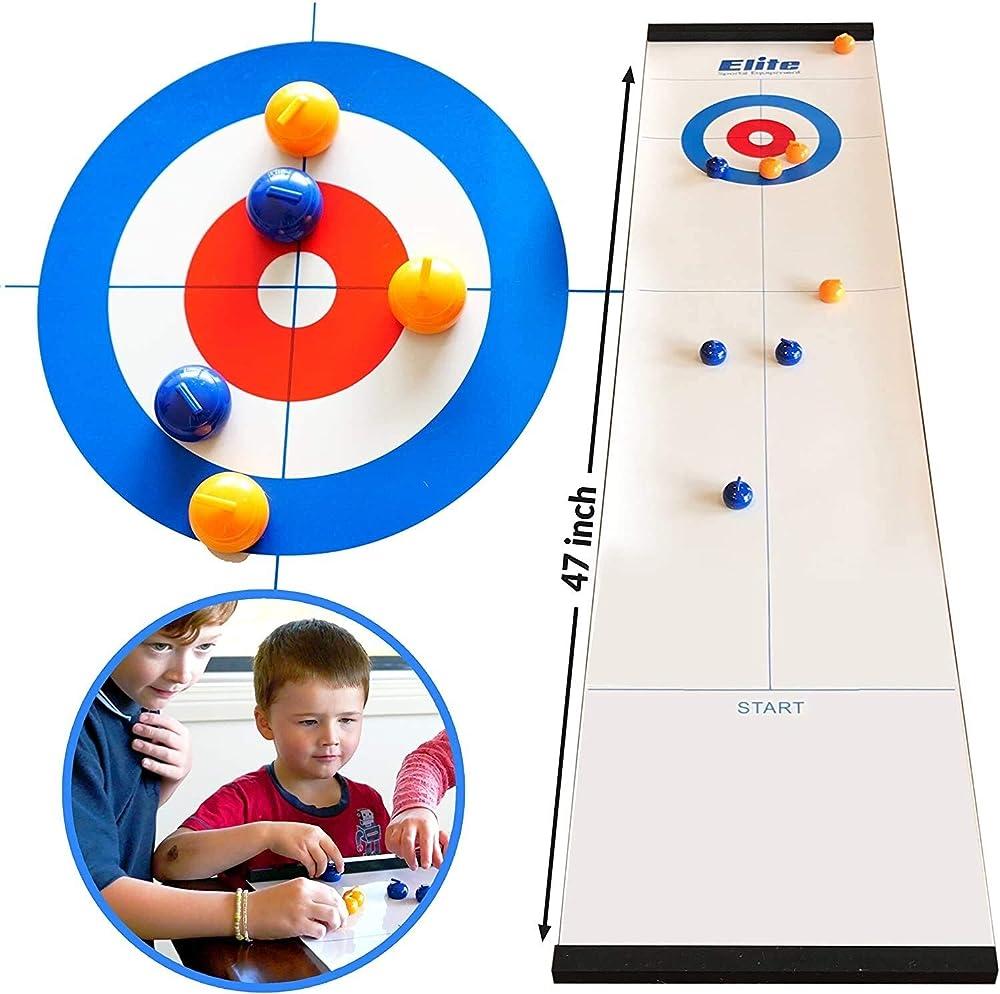 Auagvien,giochi da tavolo, gioco di curling per famiglia Auagvien