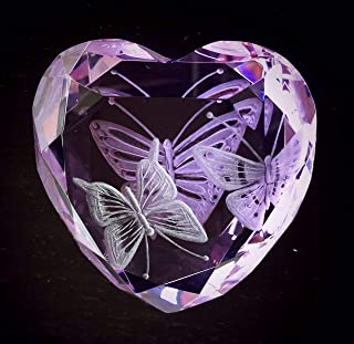 rosenthal glass heart paperweight