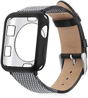 2020 For Apple WatchBand 38 / 40mmブレスレットストラップ対応、For Iwatch Serie 5/4/3/2/1コレアアップルウォッチ44 / 42mmのプロテクターケース付き-c-42mm Suit