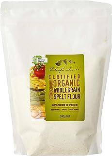 Chef's Choice Organic Stone Ground Whole Grain Spelt Flour, 500 g