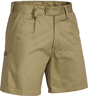 BISLEY WORKWEAR Men's Original Cotton Drill Work Short Dark Taupe