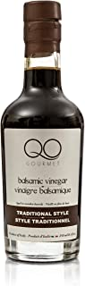 QO Thick Aged Balsamic Vinegar of Modena | Traditional Style | Gourmet Premium Dense Italian Vinegar | Aceto Balsamico di Modena | All Natural | Aged in Wooden Barrels | Crafted in Modena | 8.5 fl.oz