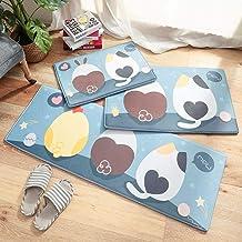 ESUPPORT Extra Long Cartoon Floor Mat Flannel Kitchen Bathroom Absorbent Non Slip Bath Rug, Adorable Pet