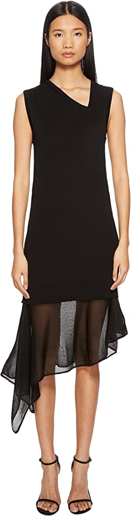 Neil Barrett Techno Knit Asymmetric Dress