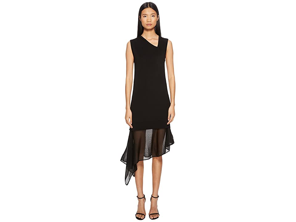Neil Barrett Techno Knit Asymmetric Dress (Black) Women