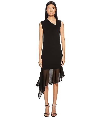 Neil Barrett Techno Knit Asymmetric Dress (Black) Women