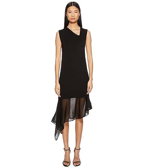 Neil Barrett Techno Knit Asymmetric Dress