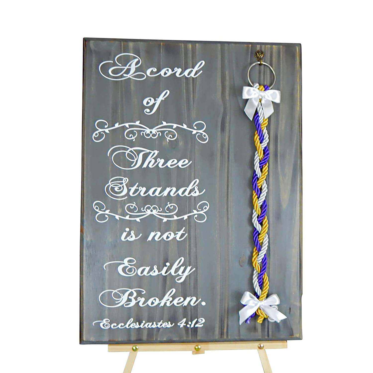 Selling rankings Wedding Gift Rustic Ceremony Decor Opening large release sale Cord Unity Of Sign