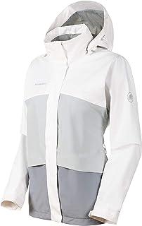 Mammut Women's Heritage Hooded Jacket, Granit-Highway-Bright White