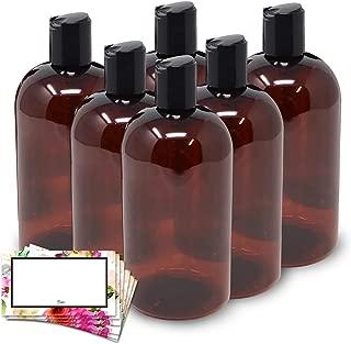 square amber bottles