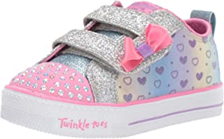 Skechers Australia Shuffle LITE - Sparkly Hearts Girls Training Shoe