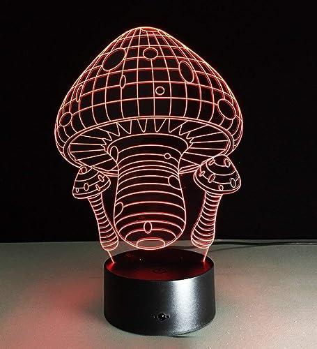 Lampe de table lampe de table acrylique nuit lumière LED Cadeaux créatifs DIY Rohommetique sept couleurs décoration lumière Tableau nuit Lampes (Couleuré  touchez l'interrupteur)