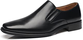 NXT NEW YORK Men's Leather Dress Shoes Slip On Plain Toe Loafer Shoes Men Formal Classic Comfortable Business Shoes