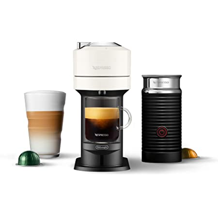 Nespresso Vertuo Next Coffee and Espresso Machine by De'Longhi with Aeroccino, White