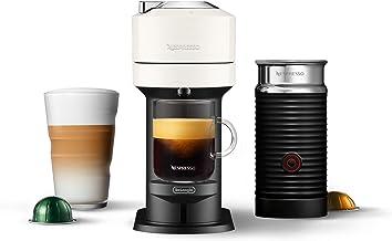 Nespresso Vertuo Next Coffee & Espresso Machine by De'Longhi, White w/Aeroccino Milk Frother, One Touch Brew, Single-Serve...