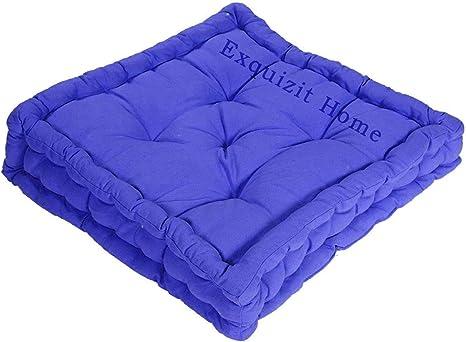 10 cm di spessore imbottitura in cotone Cuscino imbottito in 100/% cotone 45 x 45 cm sedia da giardino ca. Exquizit Home per adulti