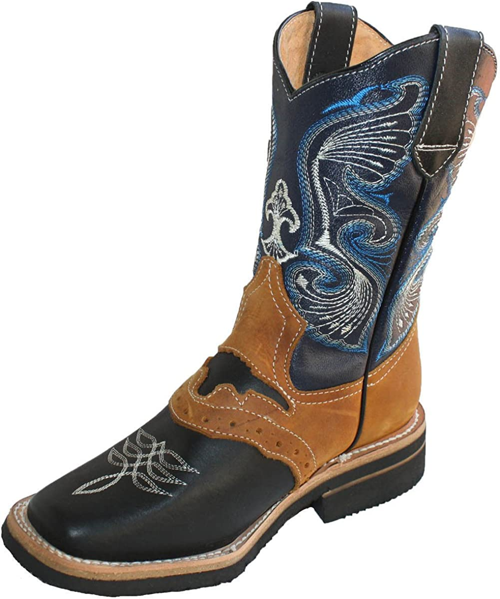 Men Genuine Cowhide Leather Toe safety Square Boots Western Charlotte Mall
