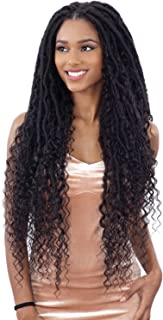 MERMAID LOC (1B Off Black) - Freetress Equal Synthetic Hand-Tied Lace Part Braid Wig