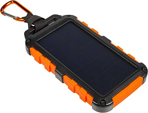 Xtorm Solar powerbank - Outdoor oplader op zonne-energie - 10.000 mAh - led power indicator - USB 2x - USB-C en met Flashlight - oranje
