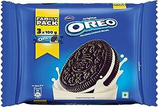 Cadbury Oreo Original Chocolatey Sandwich (Vanilla Creme) Biscuit Family Pack, 300g