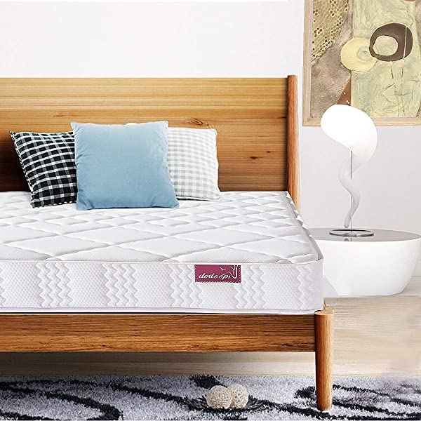 DOLSEEPS Super Comfort Hybrid Pocket Innerspring Mattress Set With 3D Knitted Dual Layered Breathable Cover 7 Certified By CertiPUR US 100 Night Trial Queen