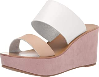 Chinese Laundry Women's Orchid Wedge Sandal, Natural/White, 10