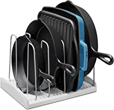 YouCopia 09041-01-WHT StoreMore Adjustable Cookware Rack Pan Organizer, New Standard, White